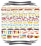 Faborki różnorodni kolory ilustracji