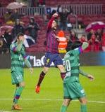 Fabregas celebrating a goal Stock Images