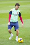 Fabregas at FC Barcelona training session Stock Photos