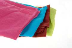 Fabric. Different colorful fabric on a white background Stock Image