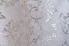 Fabric. Lustrous elegant silver fabric (detail Stock Images