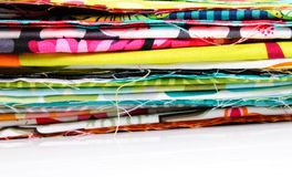 Fabric. Colorful fabric isolated on white background Stock Image