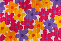 Fabric. Floral design on fabric texture Stock Photo