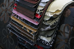 Fabric. Sample for furniture Royalty Free Stock Photo