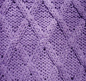 Fabric. Closeup details of blue knitted sweater, fabric Royalty Free Stock Photos