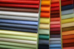 Fabric. Color samples of a fabric in shop Stock Photo