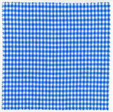 Fabric. Blue checked fabric cloth background Stock Photos