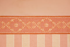 Fabric. With colorful decorations and rows Stock Photography