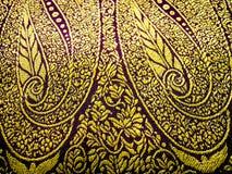 Fabric. Floral design on a indian costume known as a saree/sari stock photos