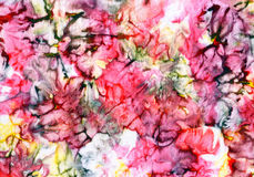Fabric with abstract paint stains Royalty Free Stock Photos