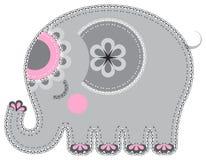 Fabric animal cutout. Elephant Royalty Free Stock Images