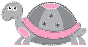 Fabric animal cutout. Turtle Stock Image