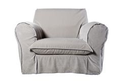 Fabric armchair. On white background Royalty Free Stock Photo