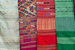 Fabric asian colorful Stock Photo