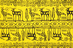 Fabric with authentic Turkish patterns stock images