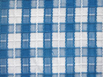 Fabric background. Blue and white fabric, natural background Stock Photo
