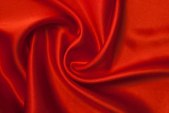 Fabric background. Smooth elegant red silk can use as background Stock Photo