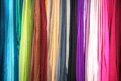 Fabric background. Background of fabric in various colors Royalty Free Stock Images