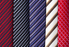 Fabric background. Group of colorful tie fabric Stock Photo