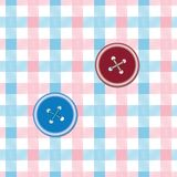 Fabric background with buttons Stock Image