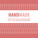 Fabric background with decorative stitches Royalty Free Stock Images