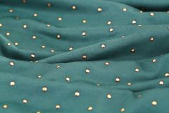 Fabric background. Green fabric background closeup picture Stock Photography