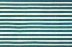 Fabric background in horizontal blue and white stripe, cotton texture Royalty Free Stock Image