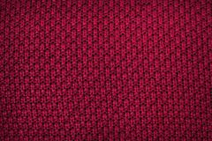 Fabric background. Top View of Cloth Textile Surface. Red thread.  royalty free stock photos