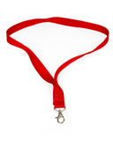 Fabric badge lanyard Royalty Free Stock Image