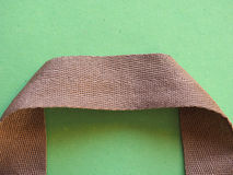 Fabric bag handle Stock Images