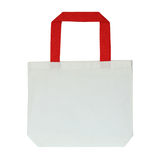 Fabric bag isolated on white Stock Photos