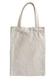 Fabric bag isolated on white Royalty Free Stock Photography