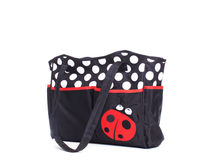 Fabric bag for mom to keep baby accessories Stock Image