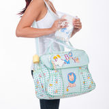 Fabric bag for mom. To keep baby accessories Royalty Free Stock Photography