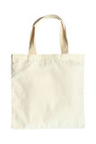 Fabric bag on white background Royalty Free Stock Images
