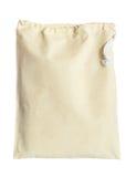 Fabric bag on white background Royalty Free Stock Photos