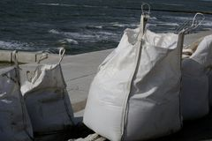 Fabric bags royalty free stock photography