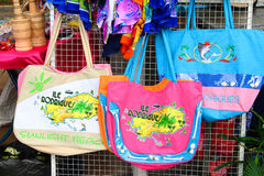 Fabric bags on sale, Rodrigues Island Stock Photo