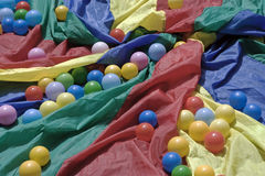 Fabric and balls Stock Photo