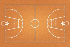 Fabric basketball court or brown frieze carpet Stock Photo