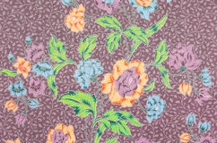 Fabric Batik pattern design. Royalty Free Stock Photography