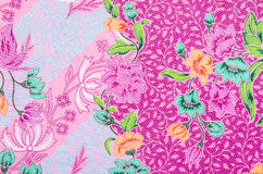 Fabric Batik pattern design. Stock Images