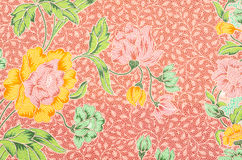 Fabric Batik pattern design Royalty Free Stock Images