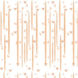 Fabric beige. Illustration texture beige wallpaper with hearts Royalty Free Stock Photo