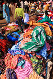 Fabric being sold in the street, India Royalty Free Stock Photography