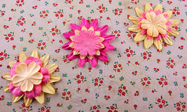 Fabric blossoms Royalty Free Stock Photos