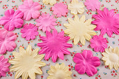 Fabric blossoms Royalty Free Stock Photo