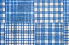 Fabric blue cell Royalty Free Stock Image