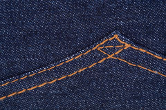 Fabric blue jean texture Stock Image