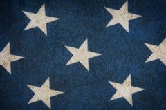 Fabric blue with white stars Stock Photography